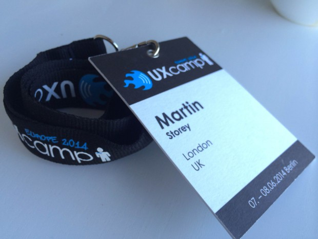 UX Camp Europe 2014 badge
