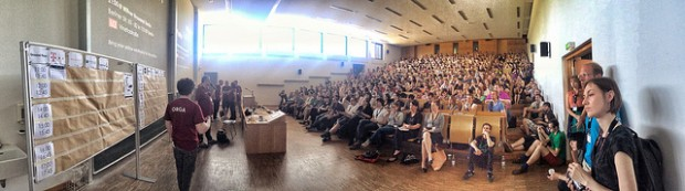 People gathered at UX Camp Europe 2014 by Danny Hope