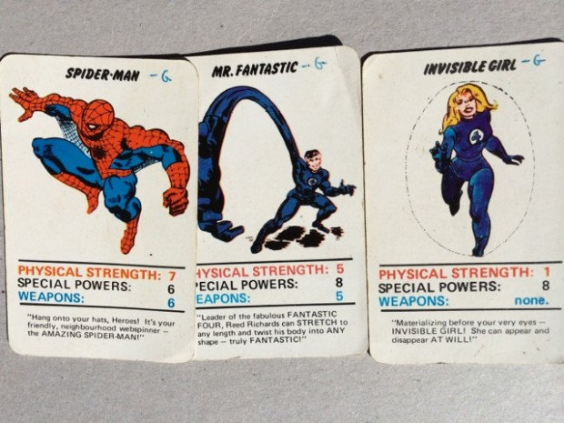 Image of super hero cards