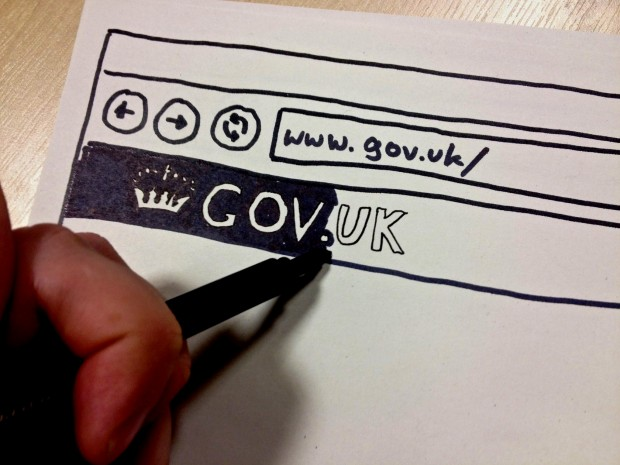 GOV.UK paper prototype