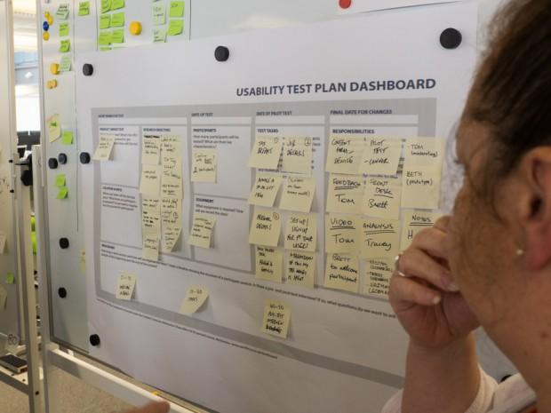 HMRC's multidisciplinary team planning a usability test