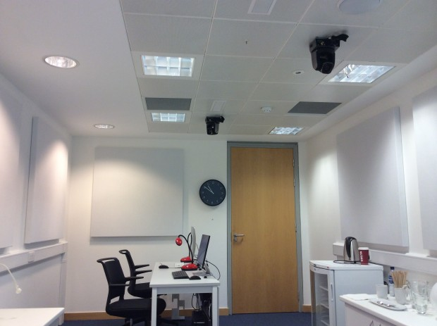 Acoustic foam panels in the GDS user research lab
