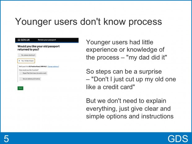 Younger users don't know process