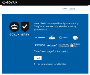 Image showing GOV.UK Verify Certified Companies