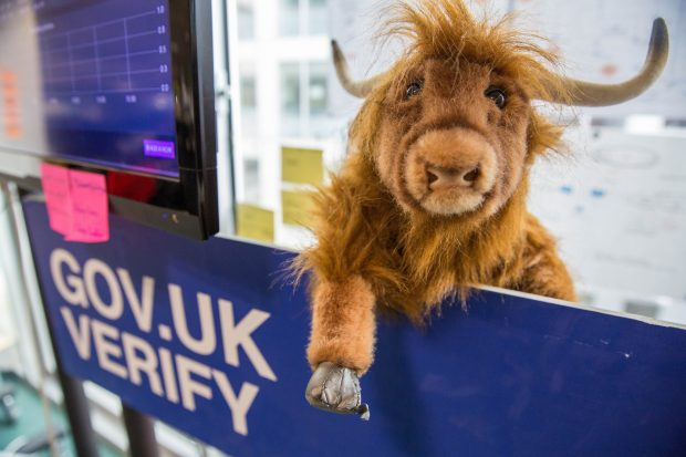 A yak and the GOV.UK Verify team sign